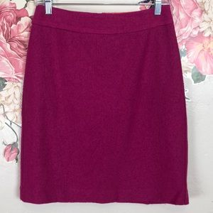 Banana Republic pink wool blend skirt size 2